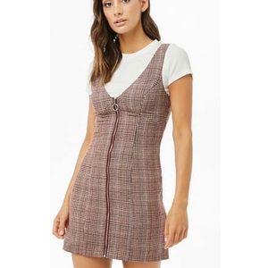 Forever 21 plaid mini dress S